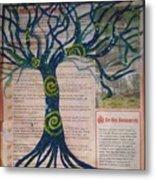 Starry Night-inspired Tree Metal Print