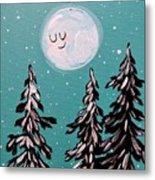 Starry Night Moon  Metal Print