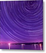 Starry Night Of Cayuga Lake Metal Print by Paul Ge