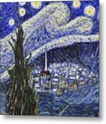 Starry Nights And Serenity  Metal Print