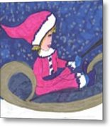 Starry Sleigh Ride Metal Print