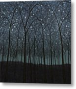 Starry Trees Metal Print