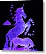 Starry Unicorns Metal Print