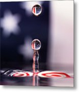 Stars And Stripes And H20 Metal Print