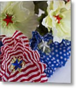 Stars And Stripes Bouquet Metal Print