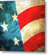 Stars And Stripes Curved Metal Print