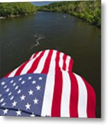 Stars And Stripes Flies Over The Delaware River Metal Print