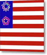 Stars And Stripes Of Retrocollage Metal Print