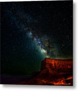 Stars And The Mountain Metal Print