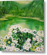 Stars By The River Side Metal Print