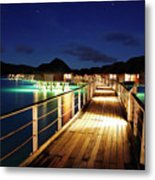 Stars Over Bungalows Metal Print