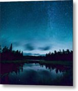Stars Over Lake Vermilion Metal Print