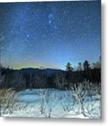Stars Over The New Hampshire White Mountains Metal Print