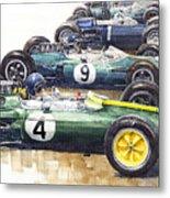 1963 Start British Gp  - Lotus  Brabham  Brm  Brabham Metal Print