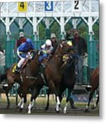 Starting Gate Metal Print