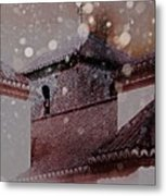 Starting To Snow Metal Print