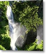 Starvation Creek Falls In September  Metal Print