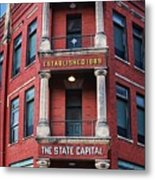 State Capital Entry  Metal Print