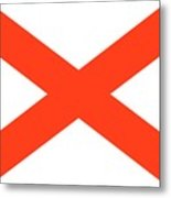 State Flag Of Alabama Metal Print