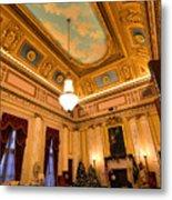 State House Christmas Metal Print