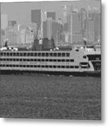Staten Island Ferry Bw16 Metal Print
