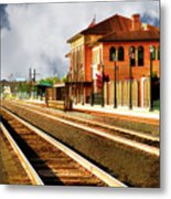 Station In Waiting Metal Print