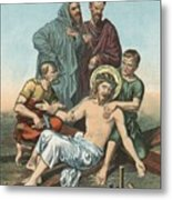 Station Xi Jesus Is Nailed To The Cross Metal Print