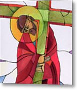 Stations Of The Cross - 02 Jesus Accepts The Cross - Mmjcs Metal Print