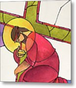 Stations Of The Cross - 03 Jesus Falls The First Time - Mmjff Metal Print