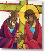 Stations Of The Cross - 05 Simon Helps Jesus Carry The Cross - Mmshj Metal Print