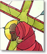 Stations Of The Cross - 07 Jesus Falls A Second Time - Mmjti Metal Print