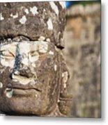 Statue At Angkor Thom Metal Print