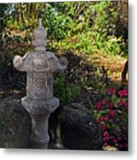 Statue In Shadows Metal Print