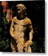 Statue In The Garden In Venice Metal Print