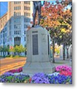 Statue In The Square Metal Print