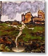 Statue Of A Zombie 2 Metal Print