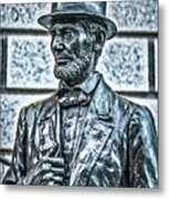 Statue Of Abraham Lincoln #7 Metal Print