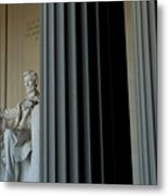 Statue Of Abraham Lincoln Is Seen Metal Print