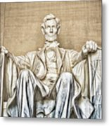 Statue Of Abraham Lincoln - Lincoln Memorial #3 Metal Print