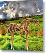 Statue Of Branches 3 Metal Print