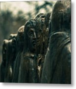 Statue Of Idle Thought Metal Print