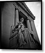 Statue Of Justice At The Courthouse In Memphis Tennessee Metal Print
