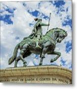 Statue Of King John I Lisbon Metal Print