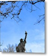 Statue Of Liberty Back View  Metal Print