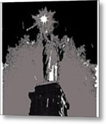 Statue Of Liberty Power Outage 1942-2014 Metal Print