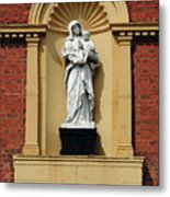 Statue Of Mother And Child Metal Print