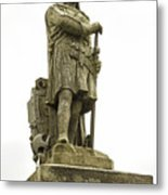 Statue Of Robert The Bruce Stirling Castle Metal Print