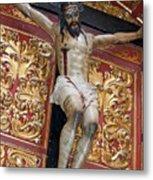 Statue Of The Crucifixion Inside The Catedral De Cordoba Metal Print