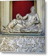 Statue Of The Greek River God Tiberinus At The Vatican Museum Metal Print