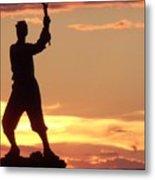 Statue On Cemerty Ridge Metal Print